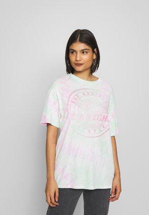 Print T-shirt - tye dye