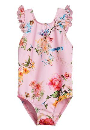 PINK FLORAL SWIMSUIT (3MTHS-12YRS) - Swimsuit - pink