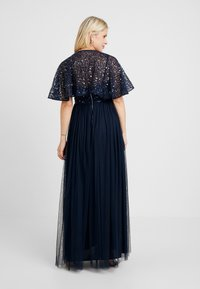 Maya Deluxe Maternity - CAPE OVERLAY DELICATE SEQUIN MAXI DRESS - Ballkleid - navy - 2
