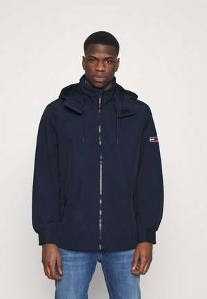 ESSENTIAL HOODED JACKET - Lehká bunda - blue