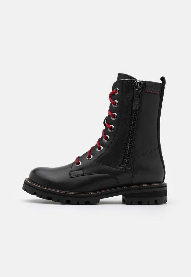 BOOTS - Bottines à lacets - black