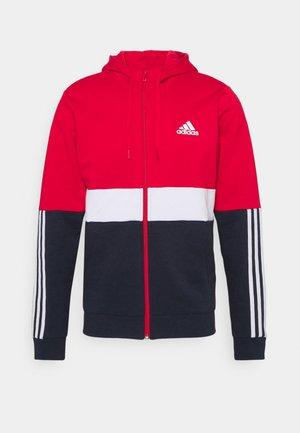 COLORBLOCK FULL ZIP ESSENTIALS - Zip-up sweatshirt - scarlet/white