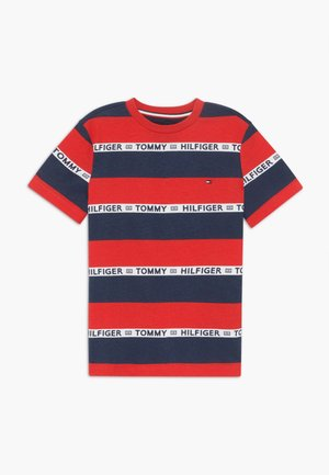 BOYS STRIPE TAPE - Camiseta estampada - red