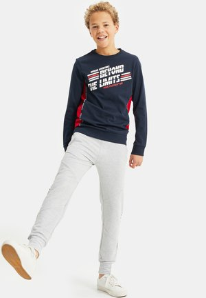 MET OPDRUK EN COLOURBLOCKING - Longsleeve - dark blue
