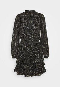 Dorothy Perkins - SPOT MINI RUFFLE - Day dress - black - 4