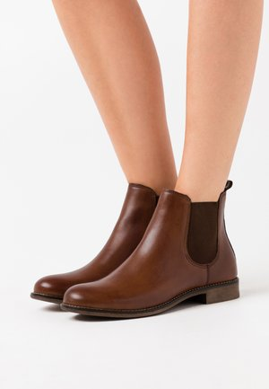 LEATHER - Ankle boot - cognac
