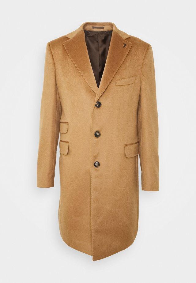 OVERCOAT WOOL CLOTH REGULAR - Classic coat - camel