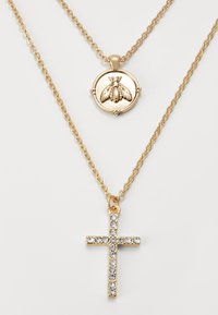 River Island - CROSS AND BUG - Ketting - gold-coloured - 2