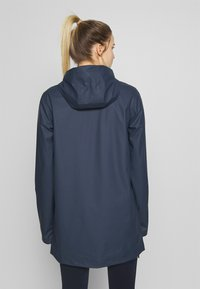 CMP - RAIN JACKET FIX HOOD - Impermeable - black blue - 2