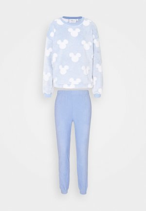 LONG SLEEVES LONG PANT SET - Pyžamová sada - bright blue