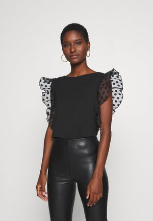 ENZA - Print T-shirt - jet black