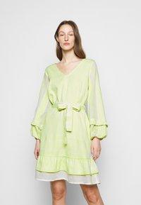 CECILIE copenhagen - LIV - Day dress - avocado green - 0