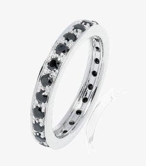 Ring - silber (schwarz)