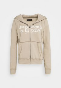 Abercrombie & Fitch - LONG LIFE FULL ZIP - Zip-up hoodie - cobblestone - 4