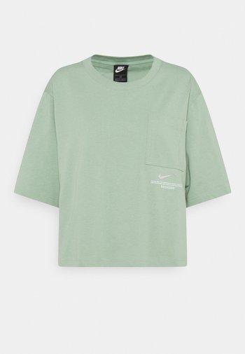 Camiseta estampada - steam/white