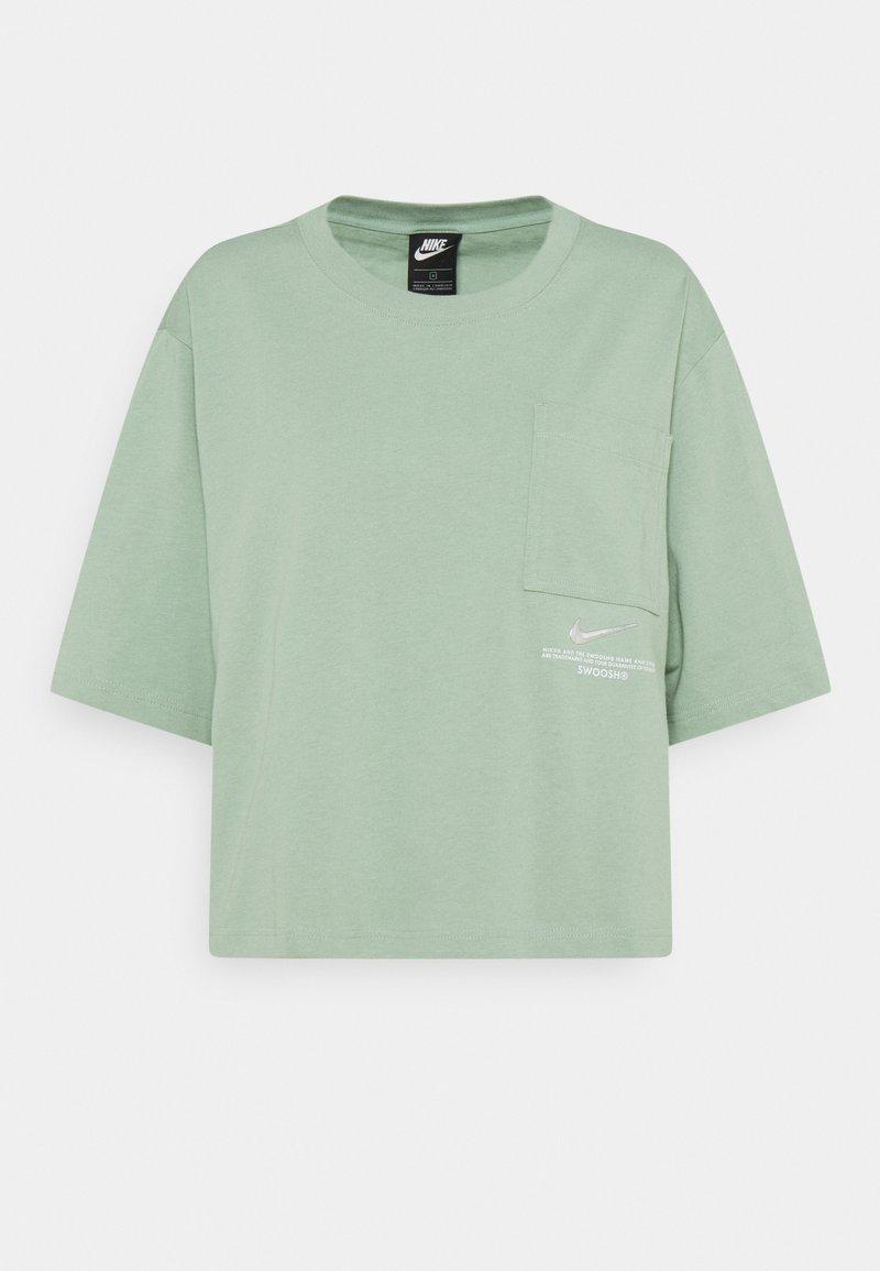Nike Sportswear - Print T-shirt - steam/white