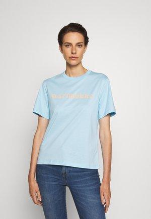 KAPINA LOGO  - Print T-shirt - light blue/light peach