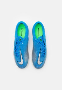 Nike Performance - REACT PHANTOM GT PRO IC - Indoor football boots - photo blue/metallic silver/rage green - 3