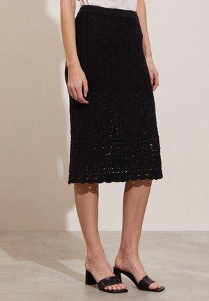 ELISE - A-line skirt - black