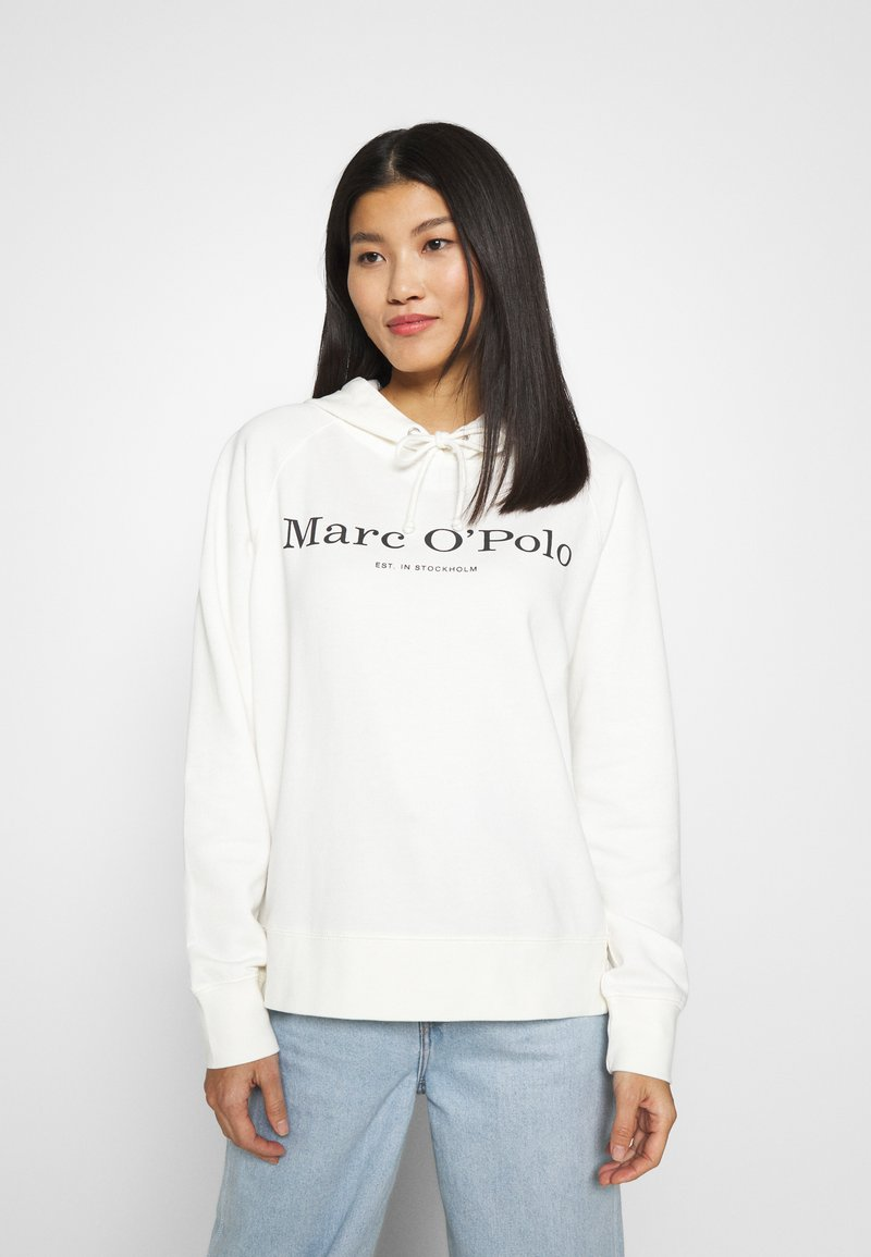 Marc O'Polo - RAGLAN SLEEVE HOODED - Hoodie - off white