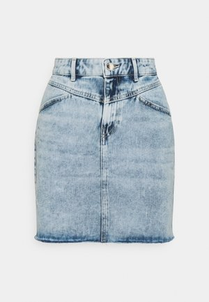 ONLFUTURE LIFE CUT SKIRT - Farkkuhame - light blue denim