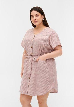 Shirt dress - dry rose stripe