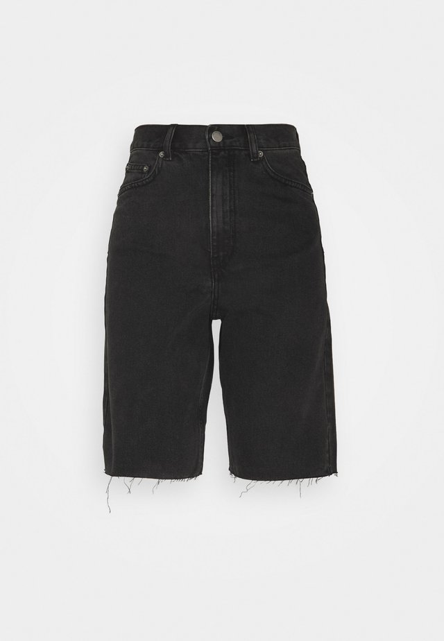 ECHO - Short en jean - charcoal black