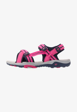 LENI - Walking sandals - daisy pink/dark navy