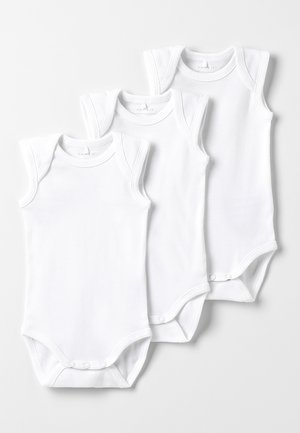NBNBODY TANK SOLID BABY BASIC 3 PACK - Body - white