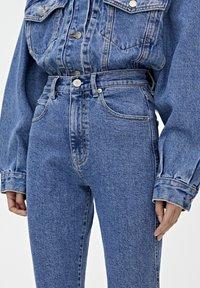PULL&BEAR - MOM - Jeansy Slim Fit - blue - 3