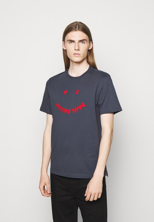 MENS FACE - Camiseta estampada - blue grey