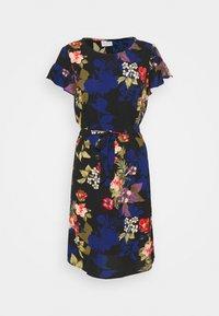 Vila - VIDIANA FLOUNCE DRESS - Kjole - black/black tropical print - 4
