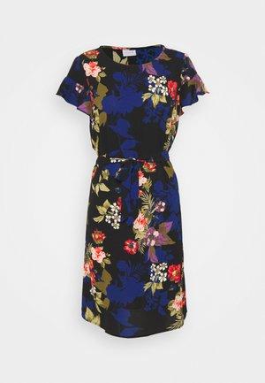 VIDIANA FLOUNCE DRESS - Vapaa-ajan mekko - black/black tropical print