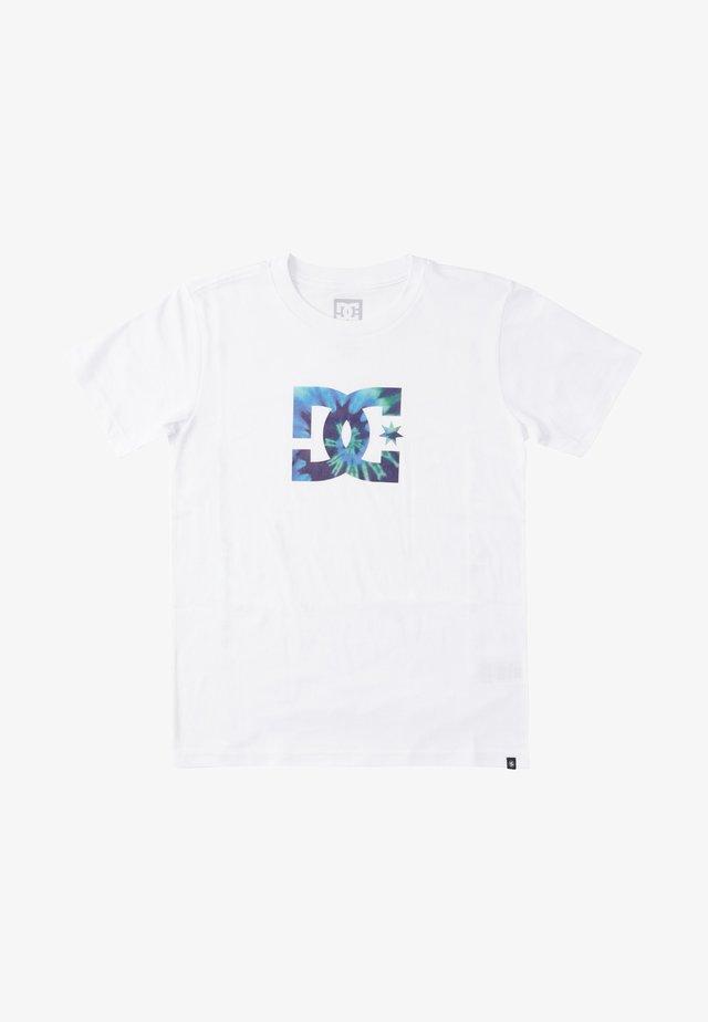 STAR TIE DYE - T-shirt med print - white