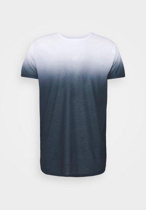 HIGH FADE TEE - Print T-shirt - white/navy