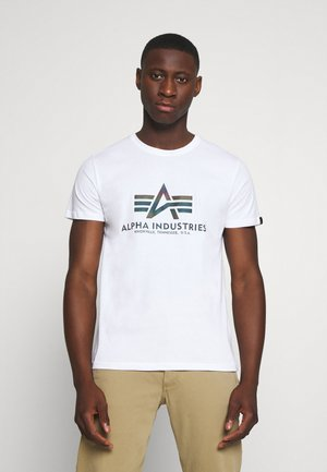BASIC RAINBOW - T-shirt imprimé - white