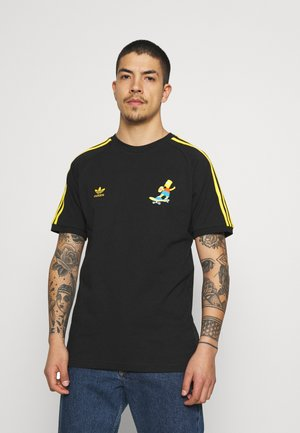THE SIMPSONS  3 STRIPES TEE - T-shirt imprimé - black