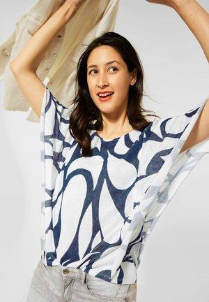 MIT PRINT - Print T-shirt - blau