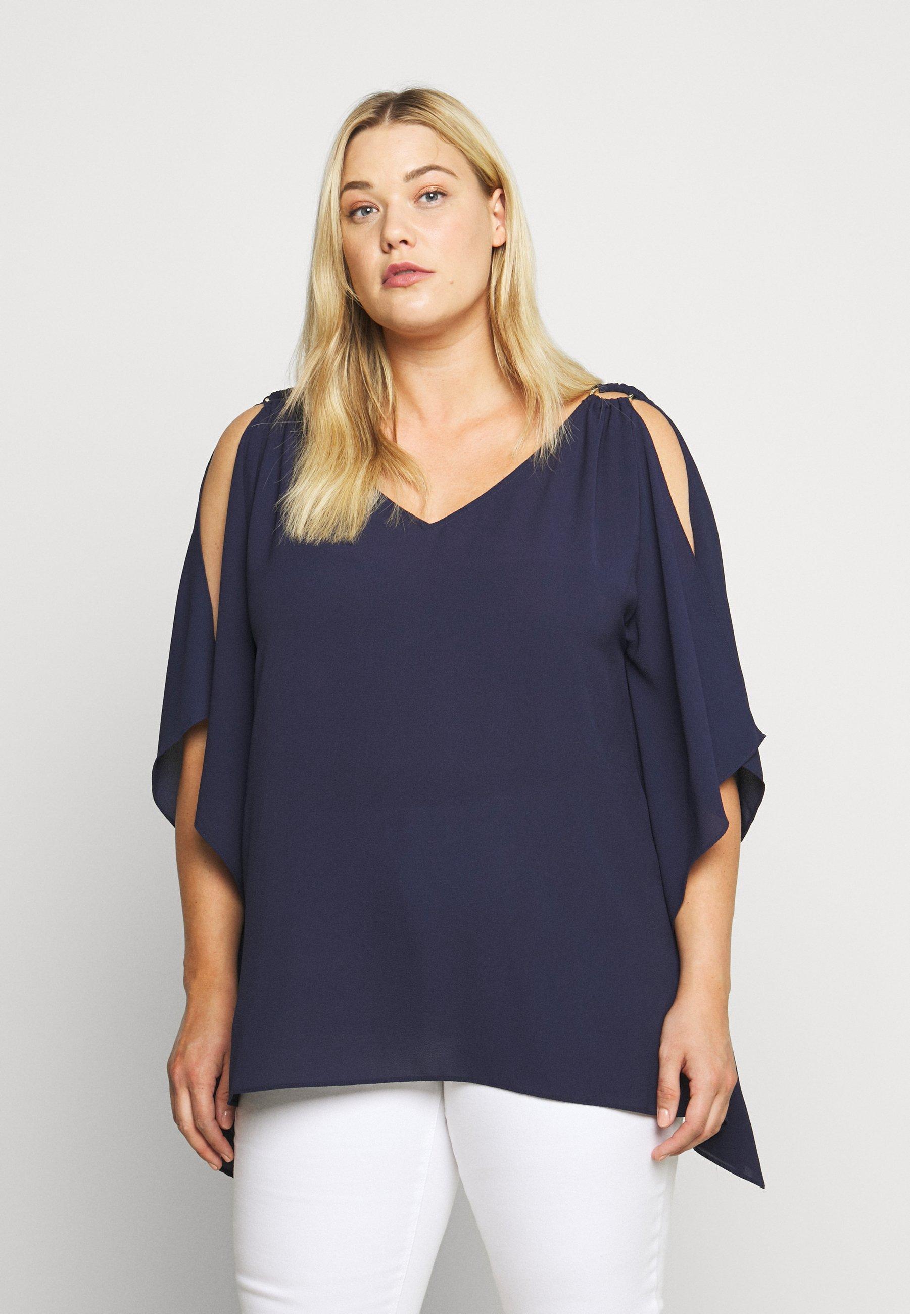 Online Shop Women's Clothing MICHAEL Michael Kors SAFFRON RING SCARF Blouse true navy gJzaj3M8P