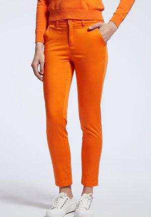 Spodnie materiałowe - orange