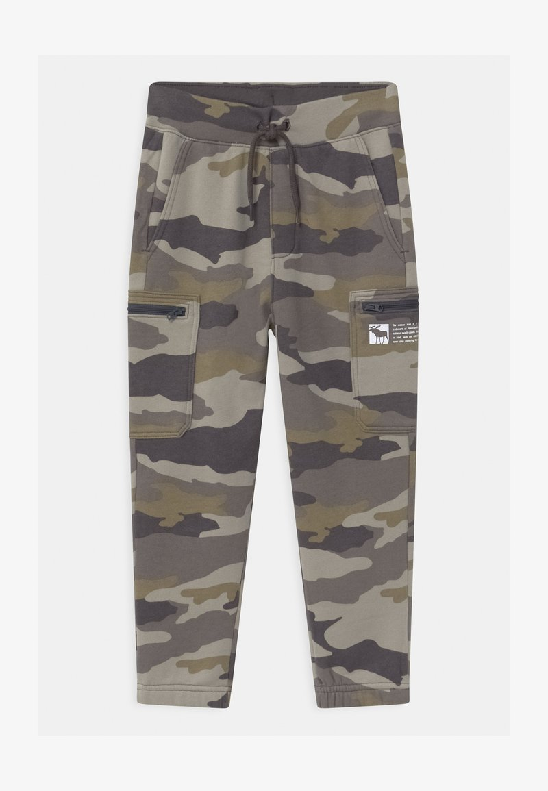 Abercrombie & Fitch - LOGO - Tracksuit bottoms - green