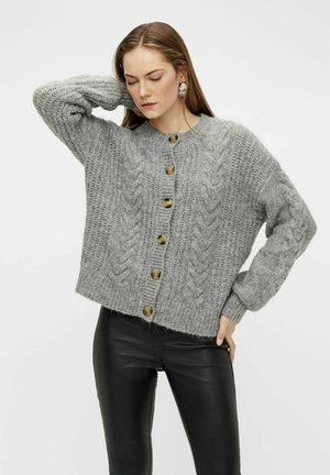 Strikjakke /Cardigans - medium grey melange