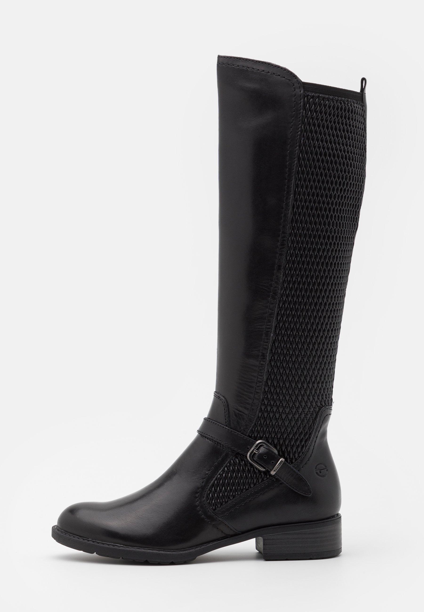 schwarze stiefel business tamaris