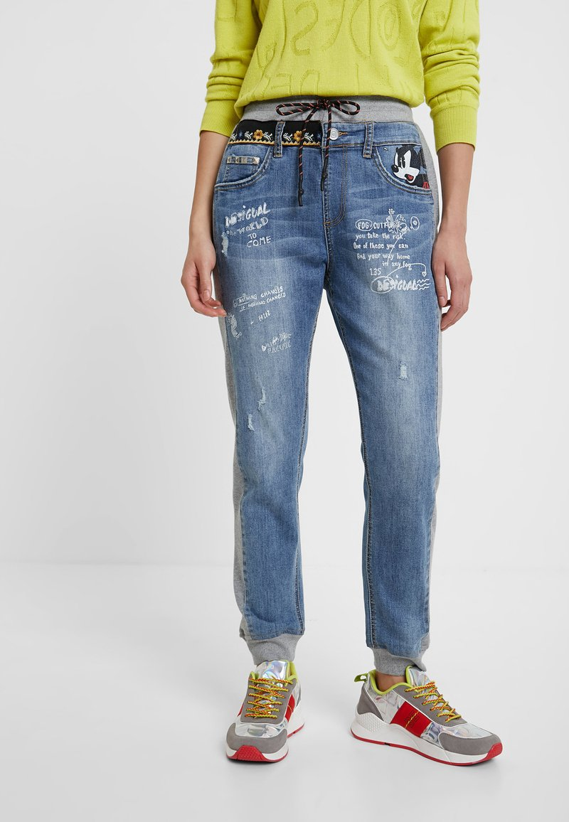 Desigual - ROMA - Jeans Tapered Fit - blue