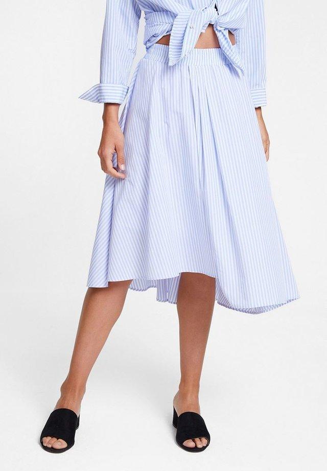 MIT MODISCHER ASYMETRISCHER FORMGEBUNG - A-line skirt - blue