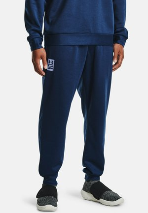 UA RECOVER  - Tracksuit bottoms - academy full heather
