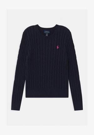 CABLE - Strickpullover - navy/college pink