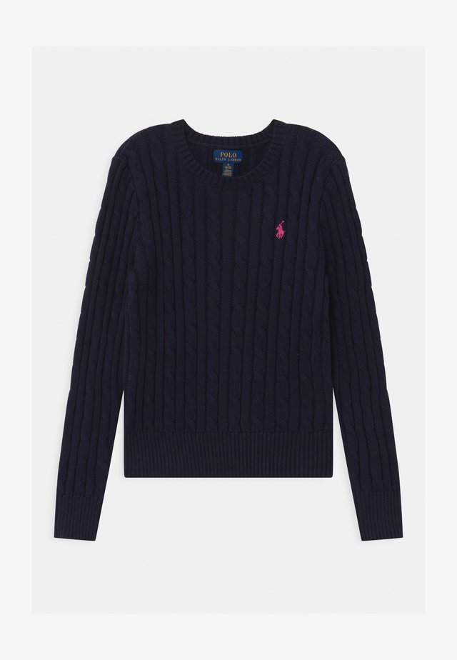 CABLE - Pullover - navy/college pink