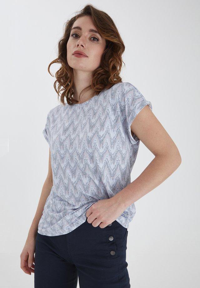 T-shirts print - brunnera blue mix