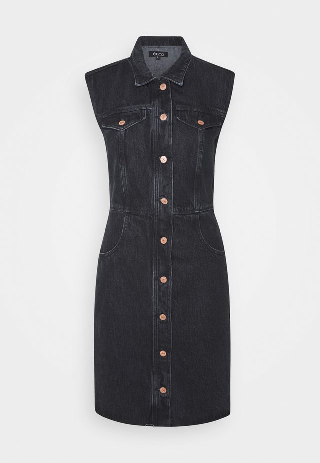 JORI - Denim dress - obsidian